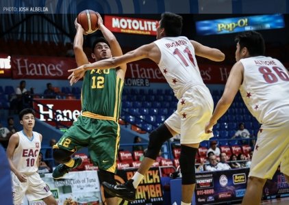 FEU fends off EAC; forges duel for top-seed vs San Sebastian