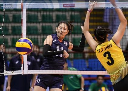 #AVCWomensSCH: Korea def. Vietnam 25-23, 25-19,17-25, 25-22