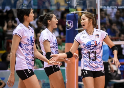 #AVCWomensSCH: Thailand def. South Korea 25-20, 25-20, 25-21