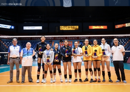 PVL Collegiate Conference Women's Division Awarding Ceremony