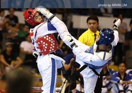 NU taekwondo jins dominate vs La Salle