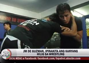 JM de Guzman, ibinida ang galing sa wrestling