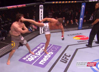 UFC lightweight proves that spin kicks aren't just for show
