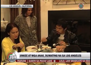 Pacquiao reunites with family in LA