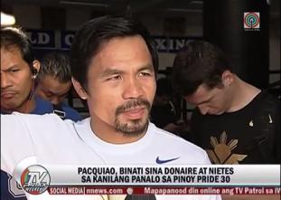 Pacquiao, masaya sa mga panalo sa Pinoy Pride 30