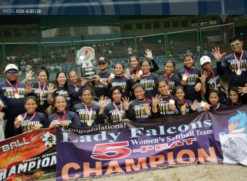 UAAP 77 Softball Champions Adamson Falcons on The Score!