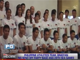 Philippine Athletics Team holds send off party before SEA Ga