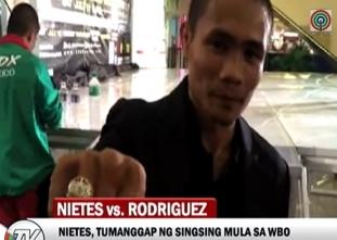 Nietes, tumanggap ng regalong singsing mula sa WBO