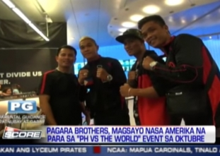 The Score: Pagara Brothers, Magsayo to fight in