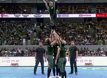 CHEER DANCE COMPETITION Group Stunts: DLSU PEP SQUAD