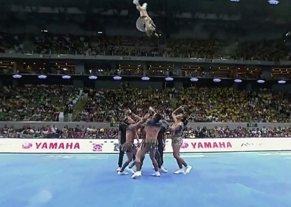 CHEER DANCE COMPETITION Group Stunts: NU PEP SQUAD