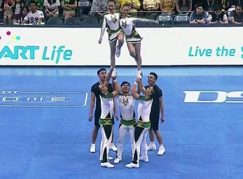 CHEER DANCE COMPETITION Group Stunts: FEU PEP SQUAD