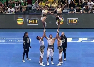 CHEER DANCE COMPETITION Group Stunts: UST PEP SQUAD
