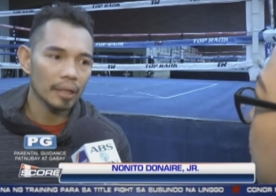 The Score: Donaire enters final week of training