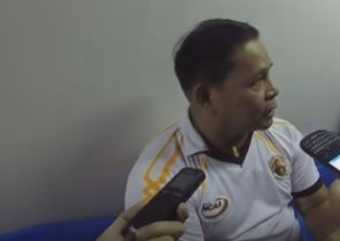 UPHSD Head Coach Sammy Acaylar talks to the media post-game