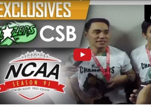 Macky Carino and Jeanette Panaga post-game interview